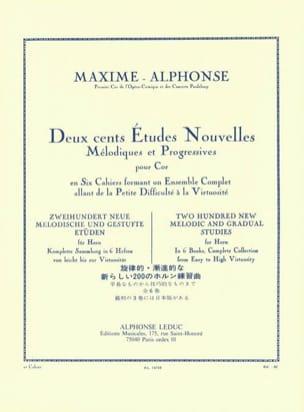 Maxime-Alphonse - 200 Studies News Volume 2 - Partition - di-arezzo.co.uk