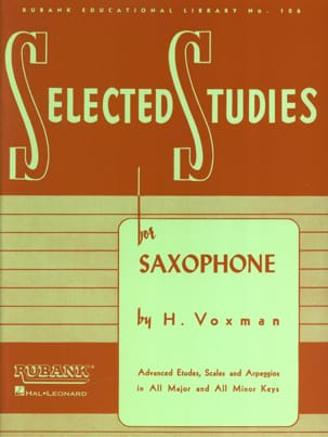 Selected Studies Voxman Partition Saxophone - laflutedepan