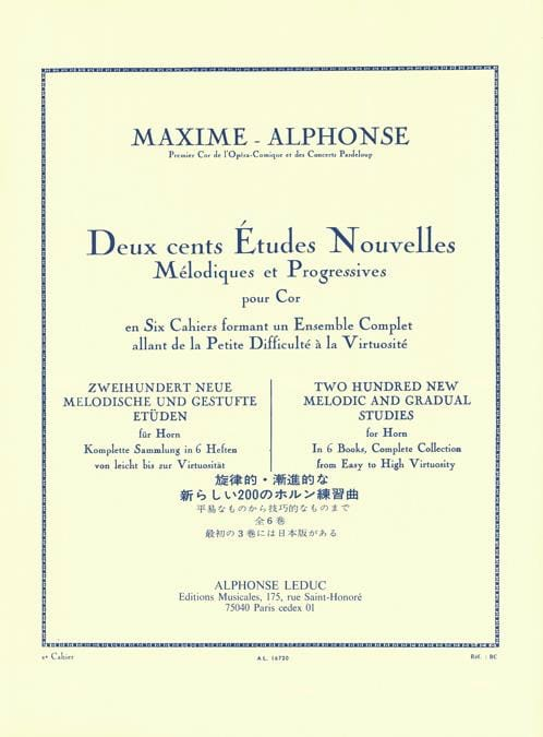 200 Etudes Nouvelles Volume 2 - Maxime-Alphonse - laflutedepan.com