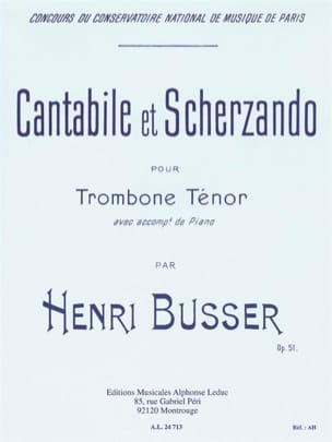 Cantabile Et Scherzando Opus 51 Henri Busser Partition laflutedepan