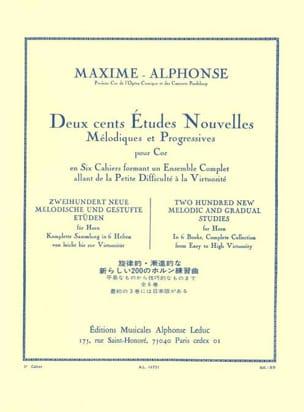 Maxime-Alphonse - 200 Studies News Volume 3 - Partition - di-arezzo.co.uk