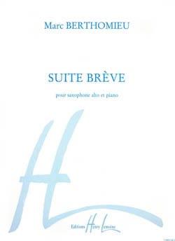 Suite Brève Marc Berthomieu Partition Saxophone - laflutedepan