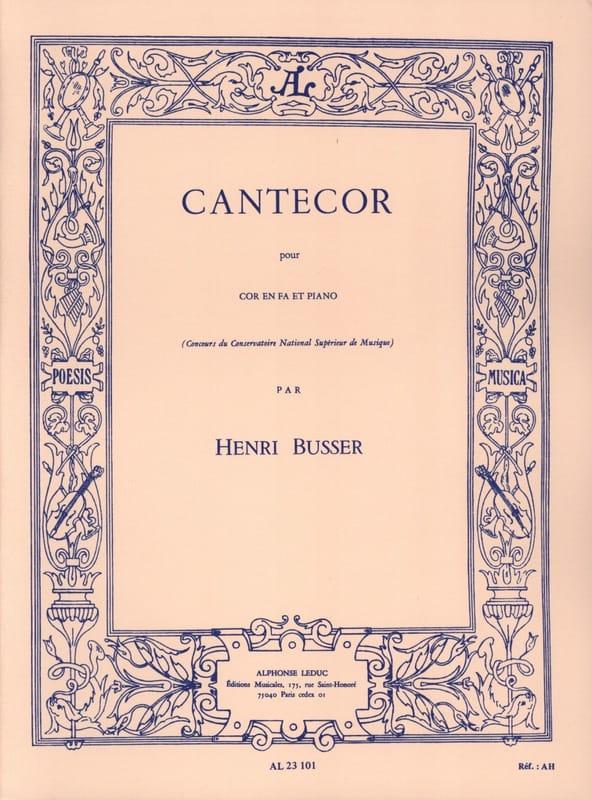 Cantecor - Henri Busser - Partition - Cor - laflutedepan.com