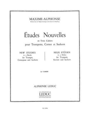 Etudes Nouvelles Volume 1 Maxime-Alphonse Partition laflutedepan