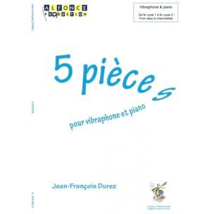 5 Pièces - Jean-François Durez - Partition - laflutedepan.com
