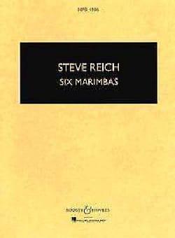 Steve Reich - Six Marimbas - Partes - Partition - di-arezzo.es