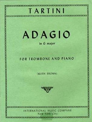 Adagio In G Major TARTINI Partition Trombone - laflutedepan
