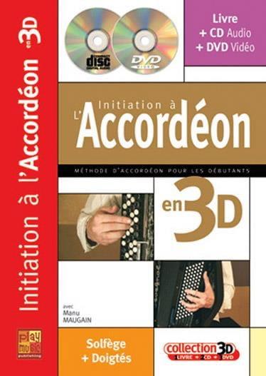 Initiation à l'accordéon en 3D - Manu Maugain - laflutedepan.com