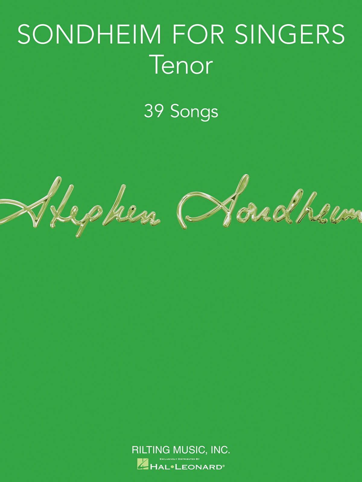 Sondheim for Singers - Tenor Vocal Collection - laflutedepan.com