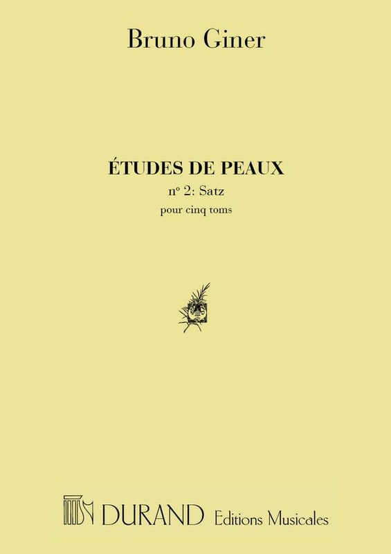 Etudes de peaux n° 2 - satz - Bruno Giner - laflutedepan.com