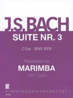 Suite N° 3 C-Dur BWV 1009 BACH Partition Marimba - laflutedepan