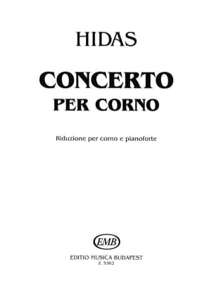 Concerto Frigyes Hidas Partition Cor - laflutedepan