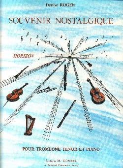 Souvenir Nostalgique Denise Roger Partition Trombone - laflutedepan