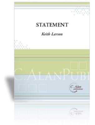 Statement - Keith Larson - Partition - Timbales - laflutedepan.com