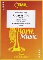 Concertino Opus 45 Carl Maria von Weber Partition Cor - laflutedepan