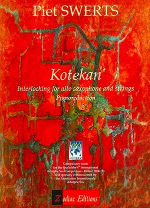 Kotekan - Piet Swerts - Partition - Saxophone - laflutedepan.com