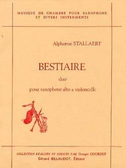 Bestiaire Alphonse Stallaert Partition Saxophone - laflutedepan