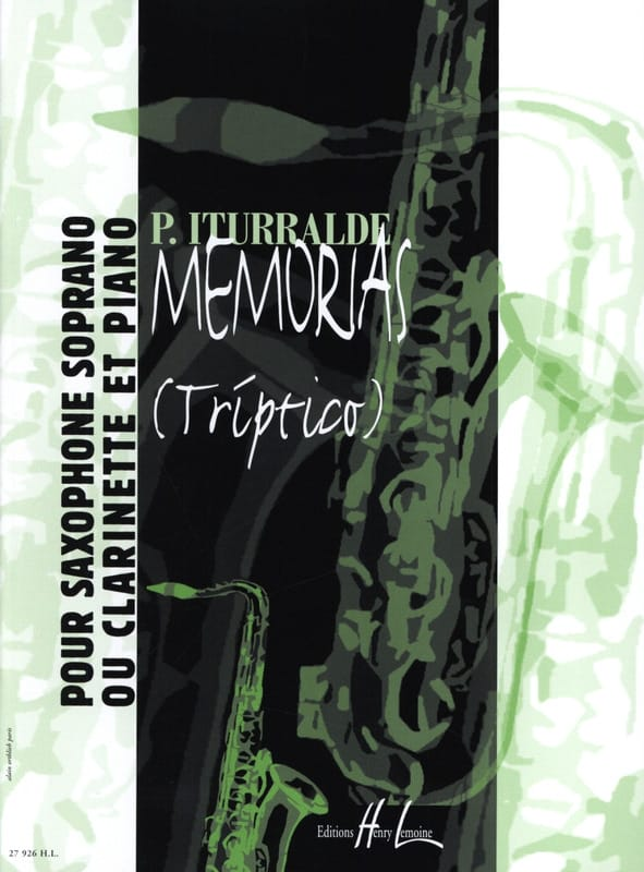 Memorias Triptico - Pedro Iturralde - Partition - laflutedepan.com