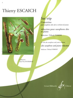 Sax Trip - Concertino Thierry Escaich Partition laflutedepan