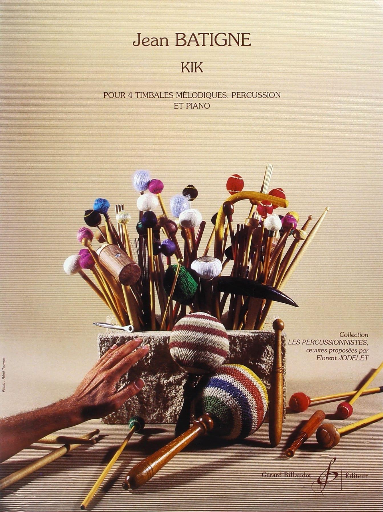 Kik - Jean Batigne - Partition - Multi Percussions - laflutedepan.com