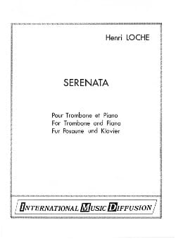 Serenata Henri Loche Partition Trombone - laflutedepan