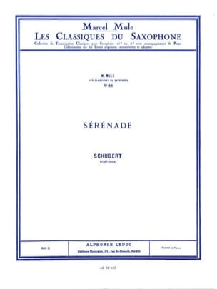 SCHUBERT - Sérénade - Partition - di-arezzo.fr