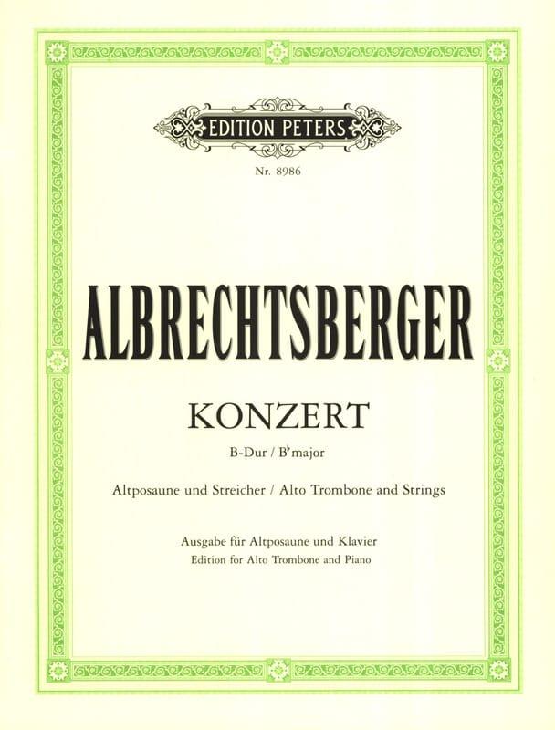 Concerto Bb Major - Johann Georg Albrechtsberger - laflutedepan.com