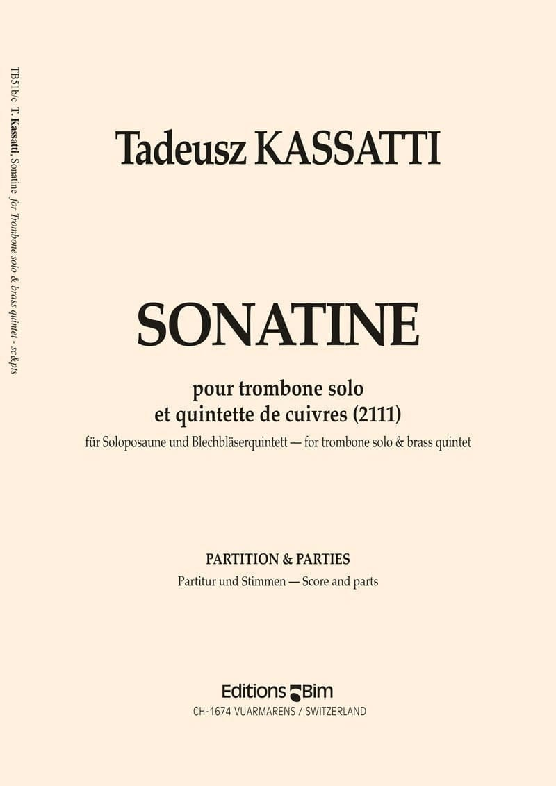 Sonatine - Conducteur et Parties - Tadeusz Kassatti - laflutedepan.com