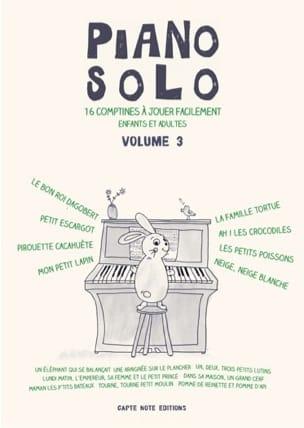 Piano Solo Volume 3 - 16 Comptines Partition laflutedepan
