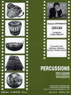 Can-Can OFFENBACH Partition Ensemble de percussions - laflutedepan