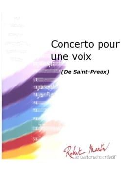 Concerto Pour Une Voix Saint Preux Partition Trompette - laflutedepan