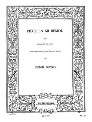 Pièce En Mib Opus 33 Henri Busser Partition Trombone - laflutedepan