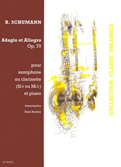 Adagio & Allegro Opus 70 SCHUMANN Partition Saxophone - laflutedepan