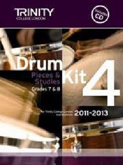 Drum kit 4 - Pieces & Studies Grades 7 & 8 Partition laflutedepan