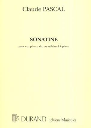 Sonatine Claude Pascal Partition Saxophone - laflutedepan