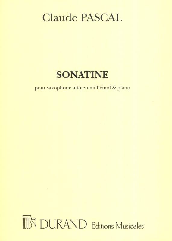 Sonatine - Claude Pascal - Partition - Saxophone - laflutedepan.com