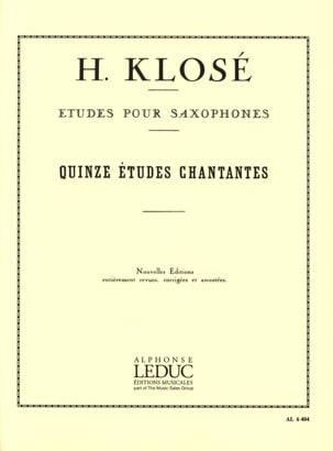 15 Etudes Chantantes Hyacinthe Eléonore Klosé Partition laflutedepan