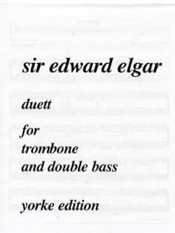 Duett ELGAR Partition Trombone - laflutedepan