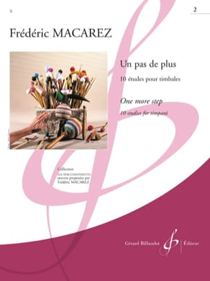 Un Pas de Plus Volume 2 - 10 Etudes Frédéric Macarez laflutedepan