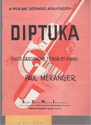Diptuka Paul Méranger Partition Saxophone - laflutedepan