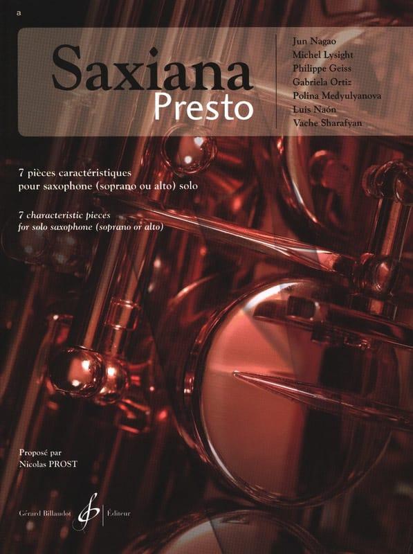 Saxiana Presto - Partition - Saxophone - laflutedepan.com