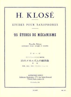 25 Etudes de Mécanisme Hyacinthe Eléonore Klosé Partition laflutedepan