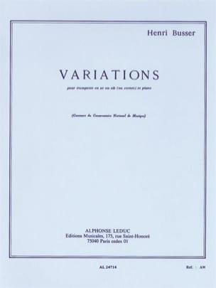 Variations Opus 53 Henri Busser Partition Trompette - laflutedepan