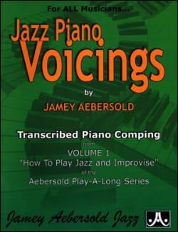Jazz Piano Voicing Volume 1 METHODE AEBERSOLD Partition laflutedepan