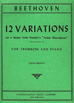 12 Variations BEETHOVEN Partition Trombone - laflutedepan