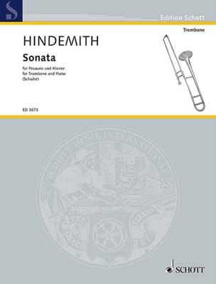 Sonate HINDEMITH Partition Trombone - laflutedepan