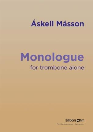 Monologue Askell Masson Partition Trombone - laflutedepan