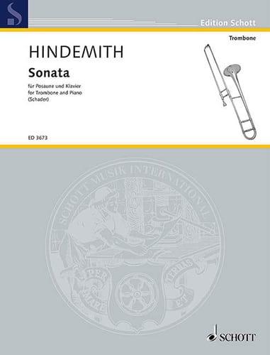 Sonate - HINDEMITH - Partition - Trombone - laflutedepan.com