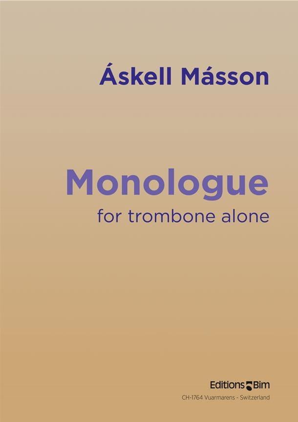 Monologue - Askell Masson - Partition - Trombone - laflutedepan.com