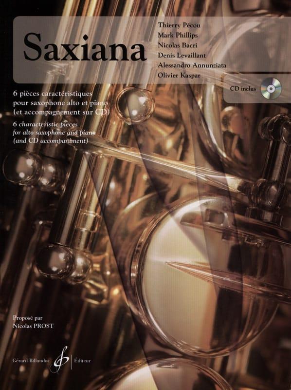 Saxiana - 6 Pièces caractéristiques - Partition - laflutedepan.com